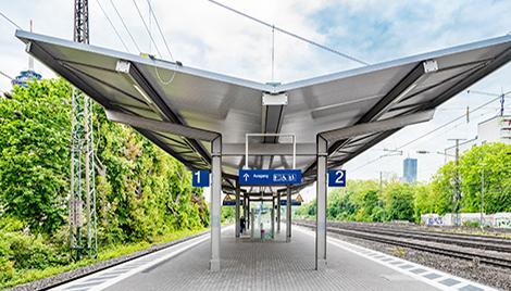 Bahnsteigdach Bodenheim light